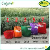 Le Seeding de feutre de jardin d'Onlylife met en sac le planteur vert vertical extérieur coloré de tissu de matériau d'emballage de fleur de jardin