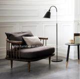 (SD6005-3)現代ホテルの居間の家具の木の余暇ファブリックソファーセット