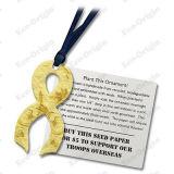 의식 리본 - 노란 장신구