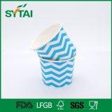 L'abitudine popolare ha stampato la tazza di carta riciclata documento del gelato