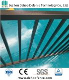 Ce / SGS Interpon Powder Coated Free Maintenance Clássico Flat Top (2 Rails) Fence