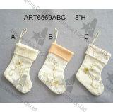 La Navidad Giftbag con el bordado de la mano, decoración 3asst-Christmas