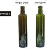 os frascos de vidro verde-oliva de frascos de petróleo 50cl de 500ml Dorica para o petróleo verde-oliva esvaziam os frascos de vidro