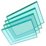 Vidrio resistente al fuego del solo panel