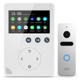 Mémoire 4.3 pouces d'intercom de degré de sécurité à la maison d'interphone de téléphone visuel de porte