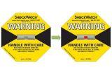 De Sticker die van de Trilling van Shockwatch Breekbare Verschepende Etiketten/Sensor verpakken