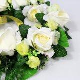 أبيض غنيّ بالألوان [35كم] اصطناعيّة باب أكاليل لأنّ حزب زخرفة عرس