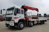 De Op zwaar werk berekende Vrachtwagen van Sinotruk 8X4 Opgezet met 14 Ton die Vrachtwagen van het Vervoer van de Kraan de Vlakke laden