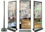 43-98 stand d'étage de pouce annonçant l'étalage d'écran magique de panneau lcd de lecteur vidéo de miroir