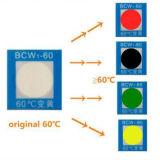 Color de alta temperatura irreversible que cambia la etiqueta engomada adhesiva sensible al calor