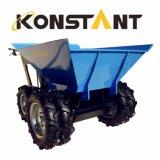 複車輪の巨大なバケツとの小型運送者の庭のローダー300kgのローディング