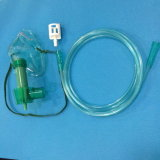 Медицинская регулируемая маска Venturi кислорода PVC для использования стационара (зеленый цвет)