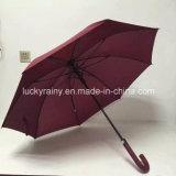 Parapluie ouvert d'automobile droite avec le tissu de pongé d'armature de fibre de verre