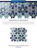 El nuevo copo de nieve de la pared del diseño de Bluwhale esmaltado Hielo-Crackle azulejo de mosaico