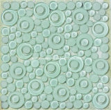 2016 Round nero Glass Mosaic con 8mm Thickness (T1822)