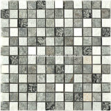 2016 Design simple Marble y Glass Mosaic con 8m m Thickness