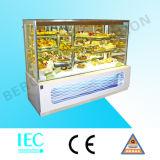 Refrigerador do indicador do bolo de mármore dos bolos para a venda
