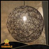 Luz colgante de la bola decorativa moderna de la cuerda (KA8092-1D)