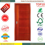 Porta moderna da madeira da segurança da casa