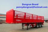 Hubei Dongrun 3 de Vrachtwagen/de Aanhangwagen van de Doos van de Lading van de Staak van de As