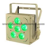 6X12W RGBWA+UV가6 에서 1 배터리 전원을 사용하는 무선에 의하여 DMX LED 점화한다