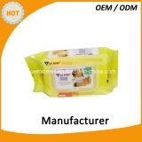 Дешевые изготовленный на заказ нежые органические намочили Wipes для младенцев/взрослых