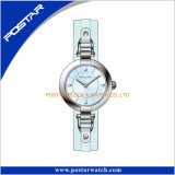 Relógio Multicolor do couro das mulheres do seletor bonito