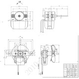 мотор вентилятора калорифера дома машины 110-240V 28mm для кондиционера