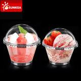 Gelato/tazza di plastica a perdere liberi del yogurt stampati abitudine