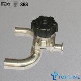 衛生ステンレス鋼の三方ダイヤフラム弁