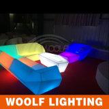 LEDの安いソファーLEDのプラスチックソファー。 レストランの夕食のソファー
