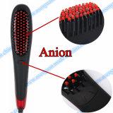 Ferro elétrico do Straightener do pente do cabelo reto do indicador do LCD