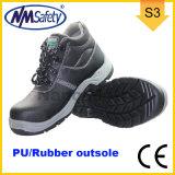 Nmsafety PU u. Gummi Outsole Kuh-aufgeteiltes Leder-Arbeits-Sicherheits-Schuhe
