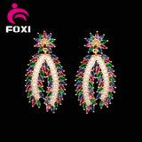 Wuzhou Foxiの卸し売り豪華なネックレスのイヤリングの宝石類セット