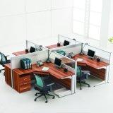4 Sitzheißer populärer hölzerner Stab-Büro-Arbeitsplatz (SZ-WST626)