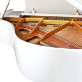 Couleur blanche du piano à queue 150cm d'instrument de musique