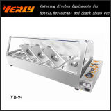 Sale caldo Commercial Food Warmer, Electric Bain Marie con Curve Glass 6 Basins, CE Approved (VB-95)