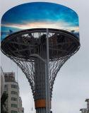 Im FreienP10 imprägniern 360 Grad runde LED-Bildschirmanzeige