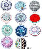 Печати Mandala полной величины Microfiber полиэфира полотенце пляжа изготовленный на заказ круглое