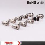 16mm 12V roter LED Ring geleuchteter momentaner wasserdichter Drucktastenschalter mit LED