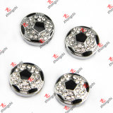 GroßhandelsAlloy Metal Sports Ball Beads Slide Charms für Fans Bracelet Gift (SC111)