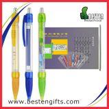 Facendo pubblicità alla penna, la cancelleria di plastica multifunzionale estrae la penna della bandiera