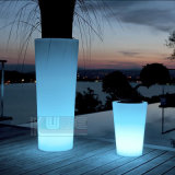 Night에 Pots 가벼운 정원 Pots Illuminated Planter Glow