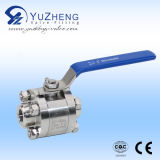 ISO Pad를 가진 3개 피스 Thread Ball Valve