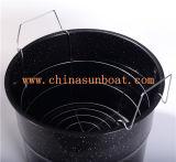 Sopa del crisol de las existencias del esmalte de Sunboat/guisado pesados grandes, vapor, ebullición