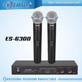 Micrófono sin hilos del canal del micrófono Es-6300 2 de la frecuencia ultraelevada de la alta calidad