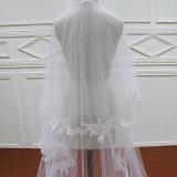 Dos capas del cordón Wedding velo largo