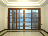 Puerta deslizante pesada enmarcada perfil de aluminio (FT-D190)