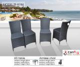 Cadeira de jantar ao ar livre de vime e tabela do Rattan Hand-Made do PE