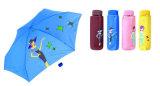 都市女の子プリント3フォールドの手動コンパクトな傘(YS-3F21083002R)